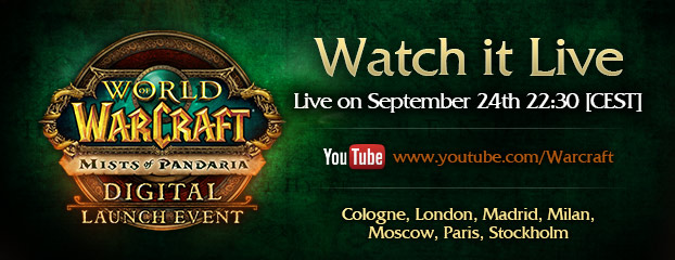 Mists of Pandaria European Digital Launch Event Announced