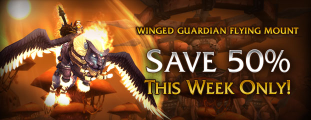 Winged Guardian Mount 50% Off – This Week Only