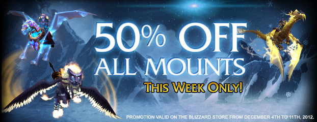 World of Warcraft Mounts – 50% Off