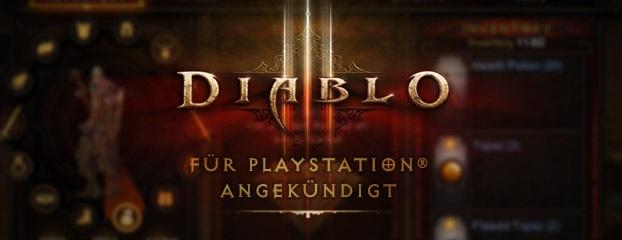 Diablo III wurde für die PlayStation®3 und PlayStation®4 angekündigt